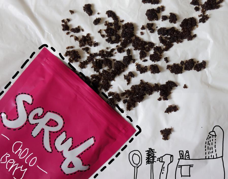 Sportsgirl choc berry coffee scrub