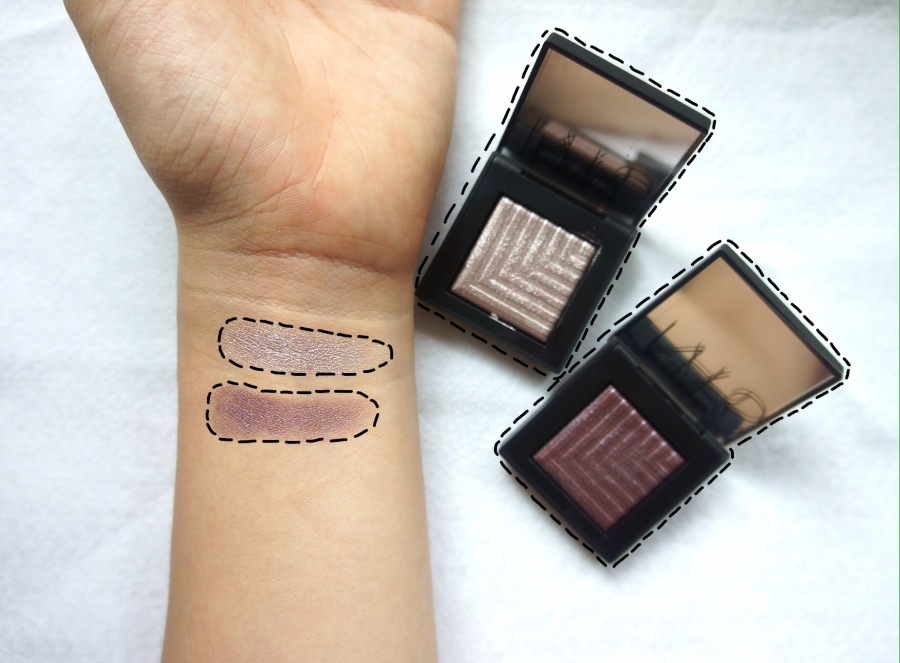 Nars dual intensity eyeshadow swatches
