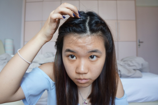 glitter hair tutorial