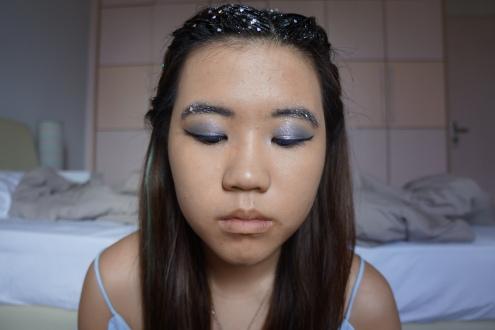 Blue eyeliner brown eyes