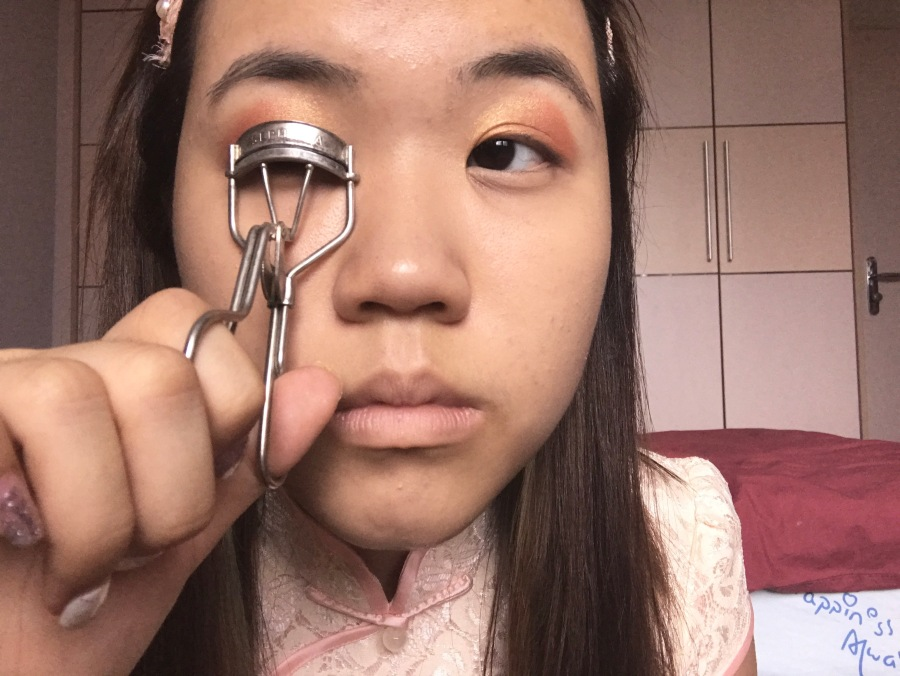 Chinese new year simple makeup look
