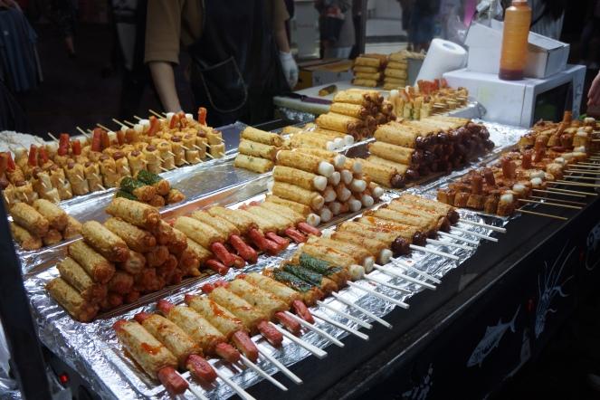 Korea Myeongdong street food finger food