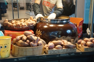 Korea Myeongdong street food sweet potato