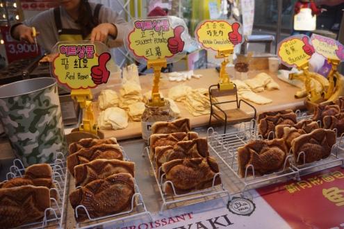 Myeongdong street food taiyaki