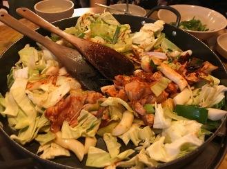 Korea Hongdae Dak galbi