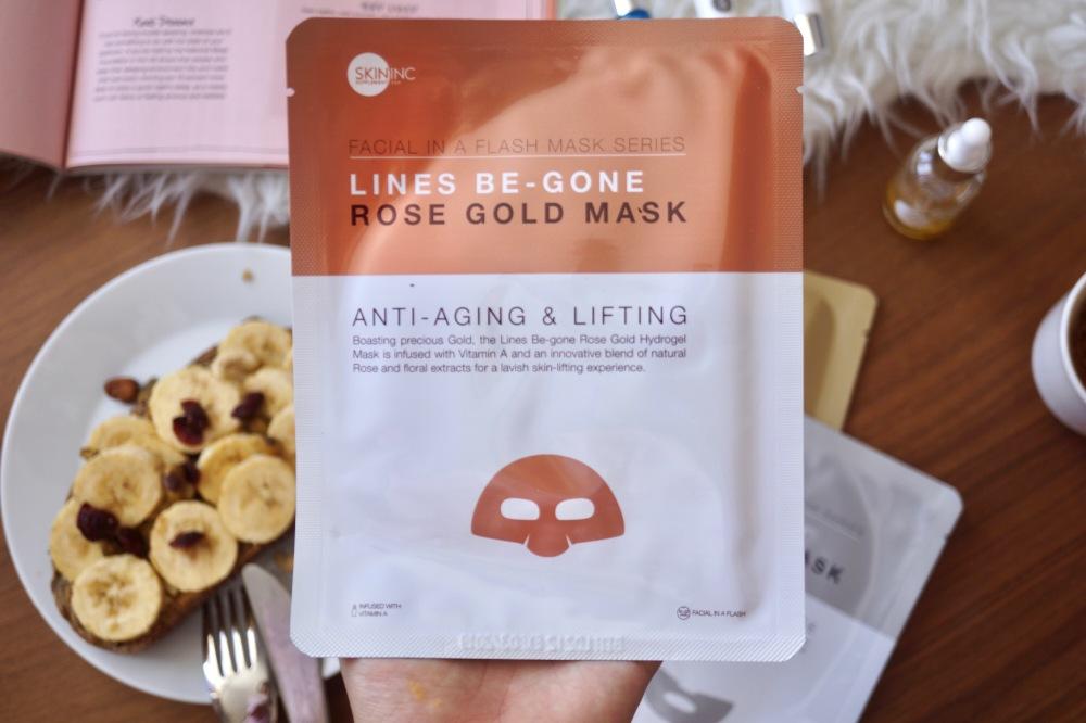 Skin Inc Lines Be-gone rose gold mask